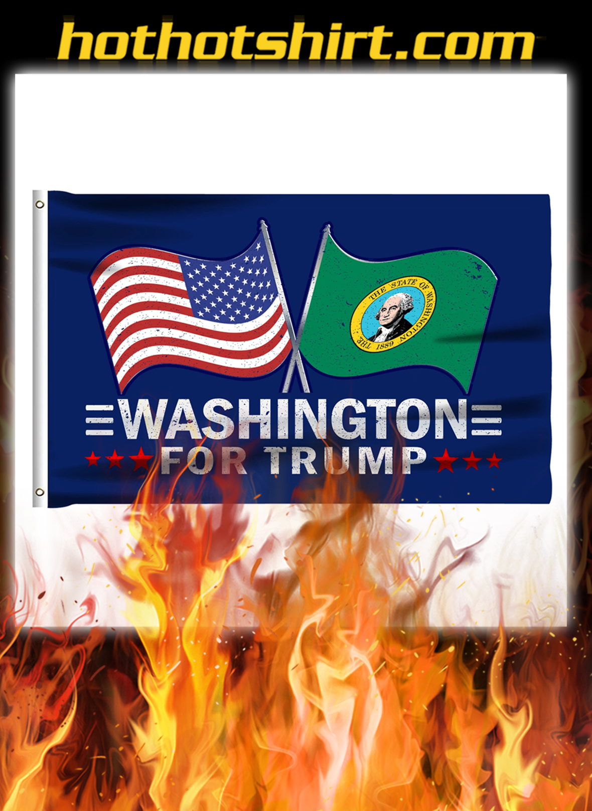 Washington For Trump Flag- pic 1