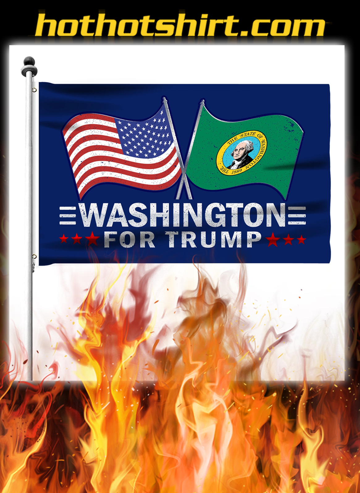 Washington For Trump Flag- pic 2