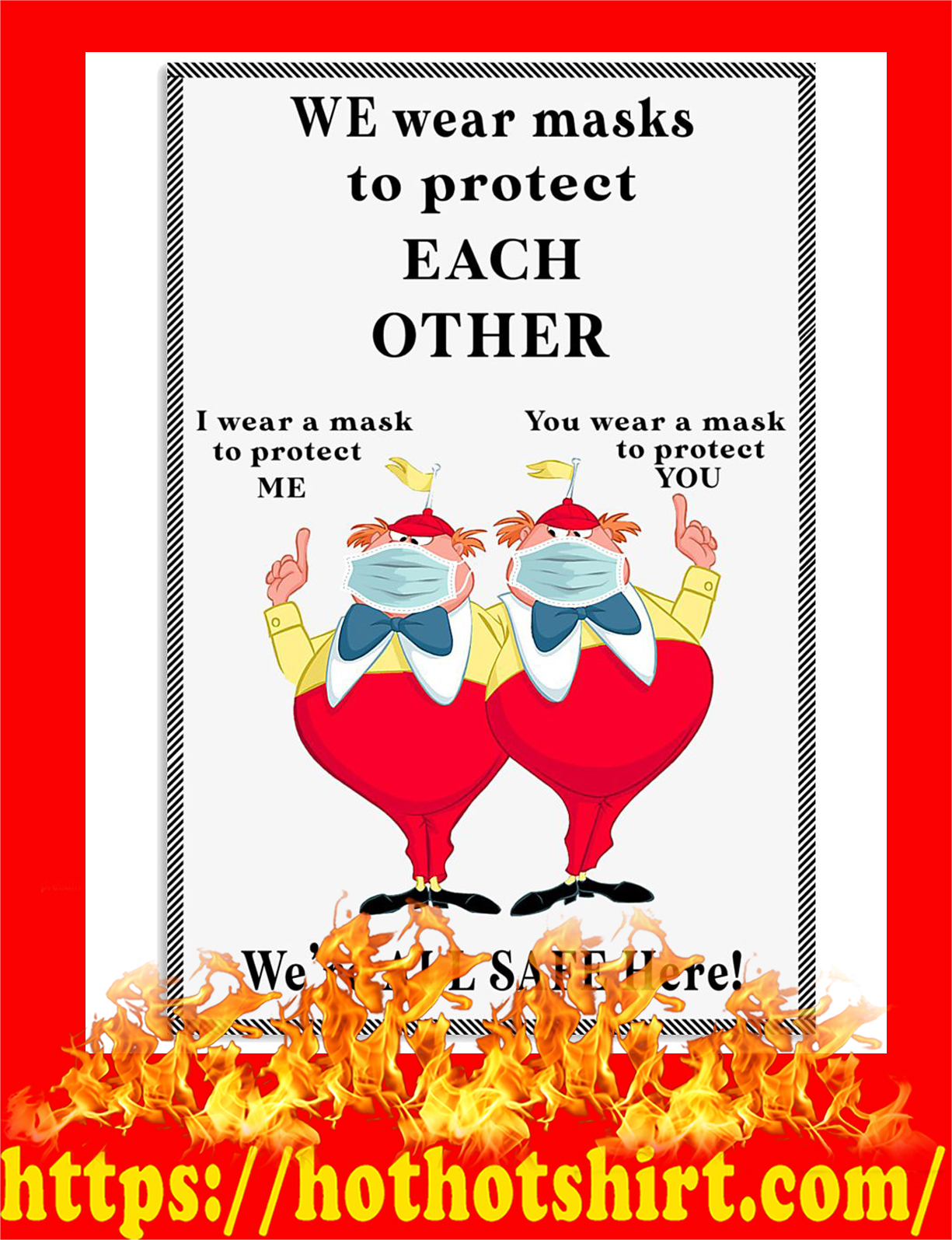 We wear masks to protect each other poster - pic 2