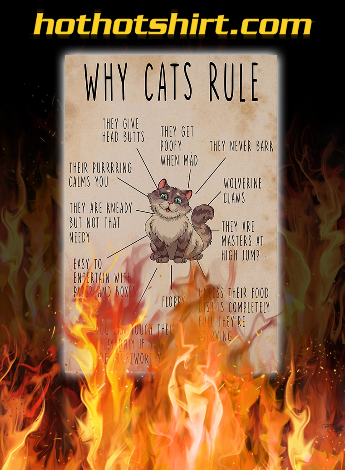 Why cats rule poster - A1