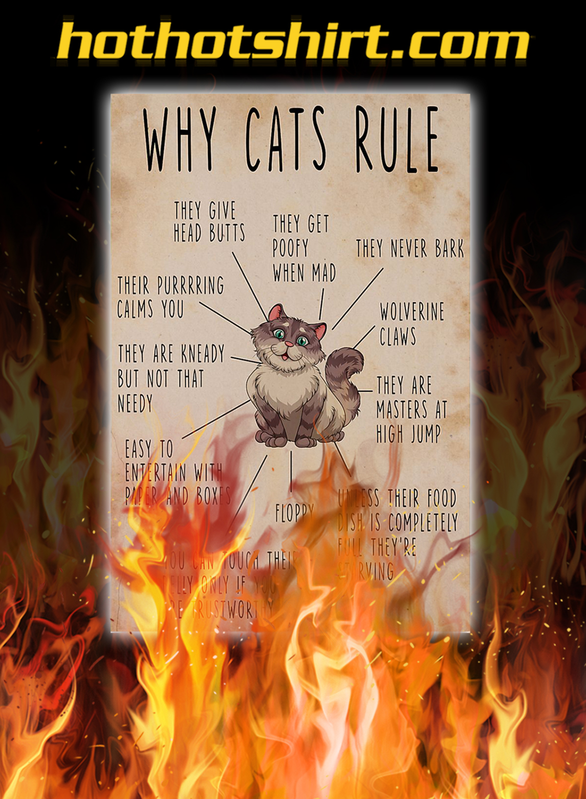 Why cats rule poster - A2