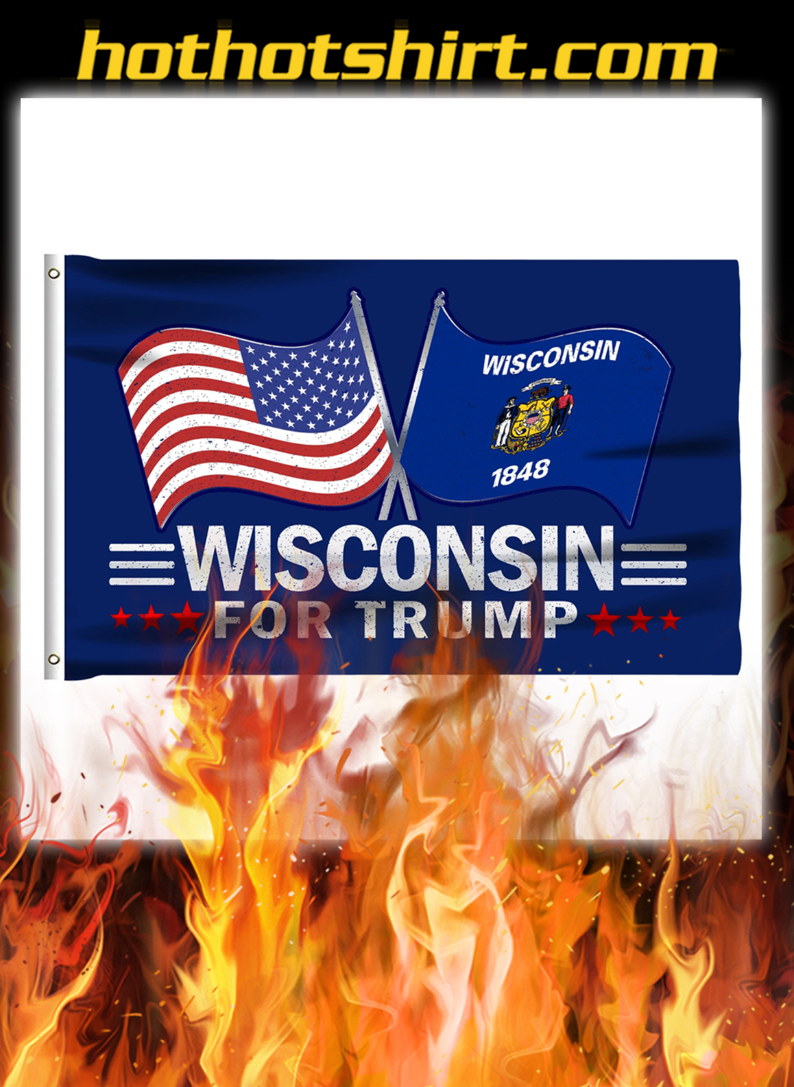 Wisconsin For Trump Flag- pic 1