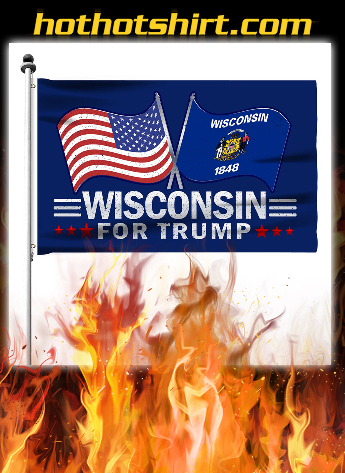 Wisconsin For Trump Flag- pic 2