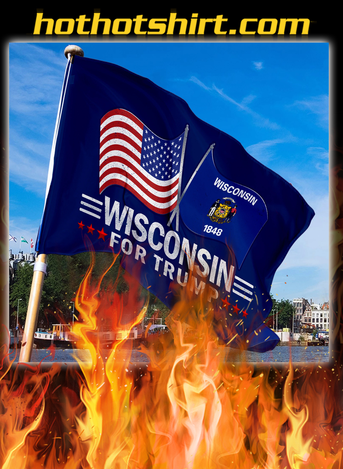 Wisconsin For Trump Flag- pic 3