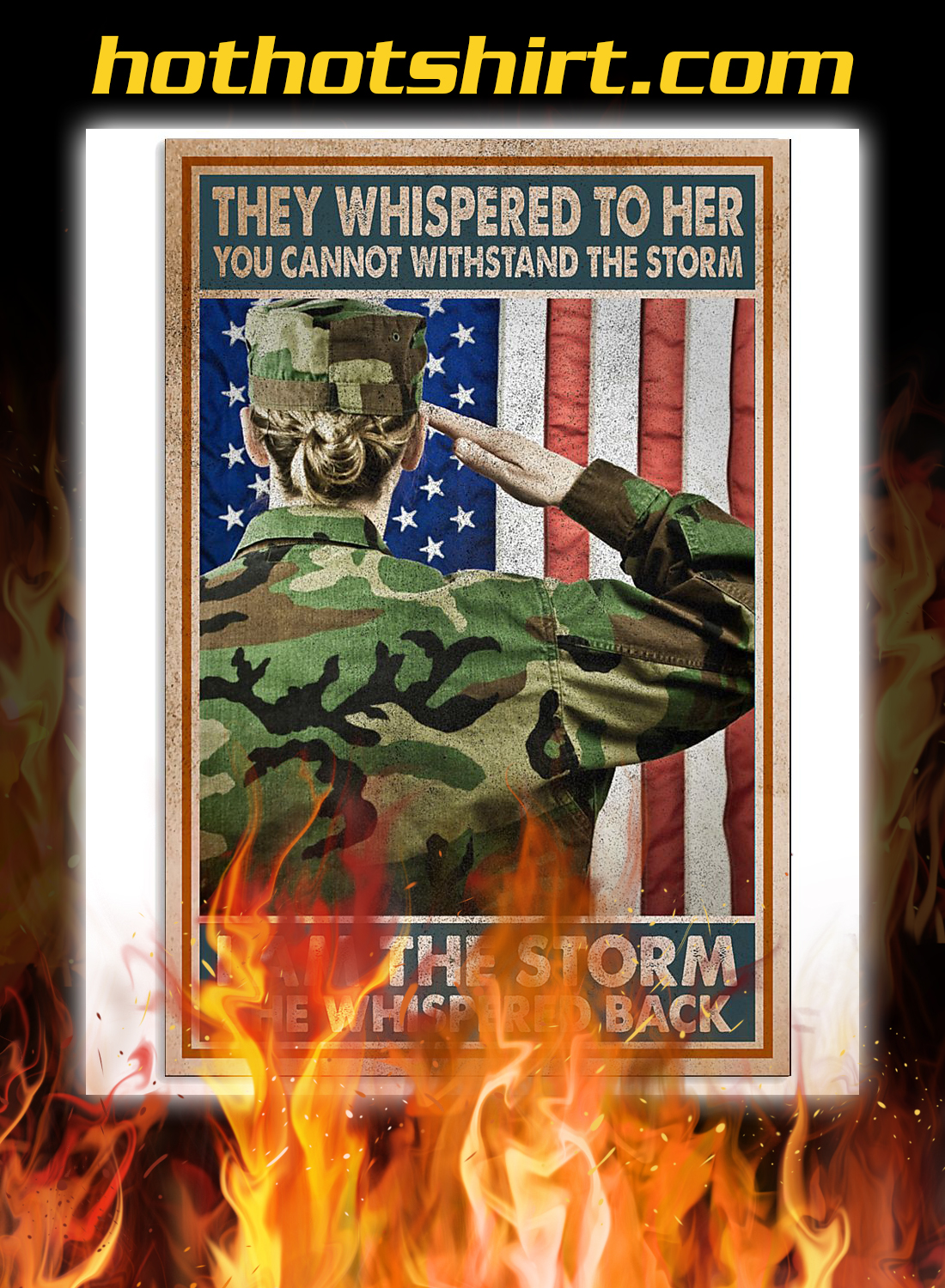 Women veterans they whispered to her you cannot withstand the storm poster 1