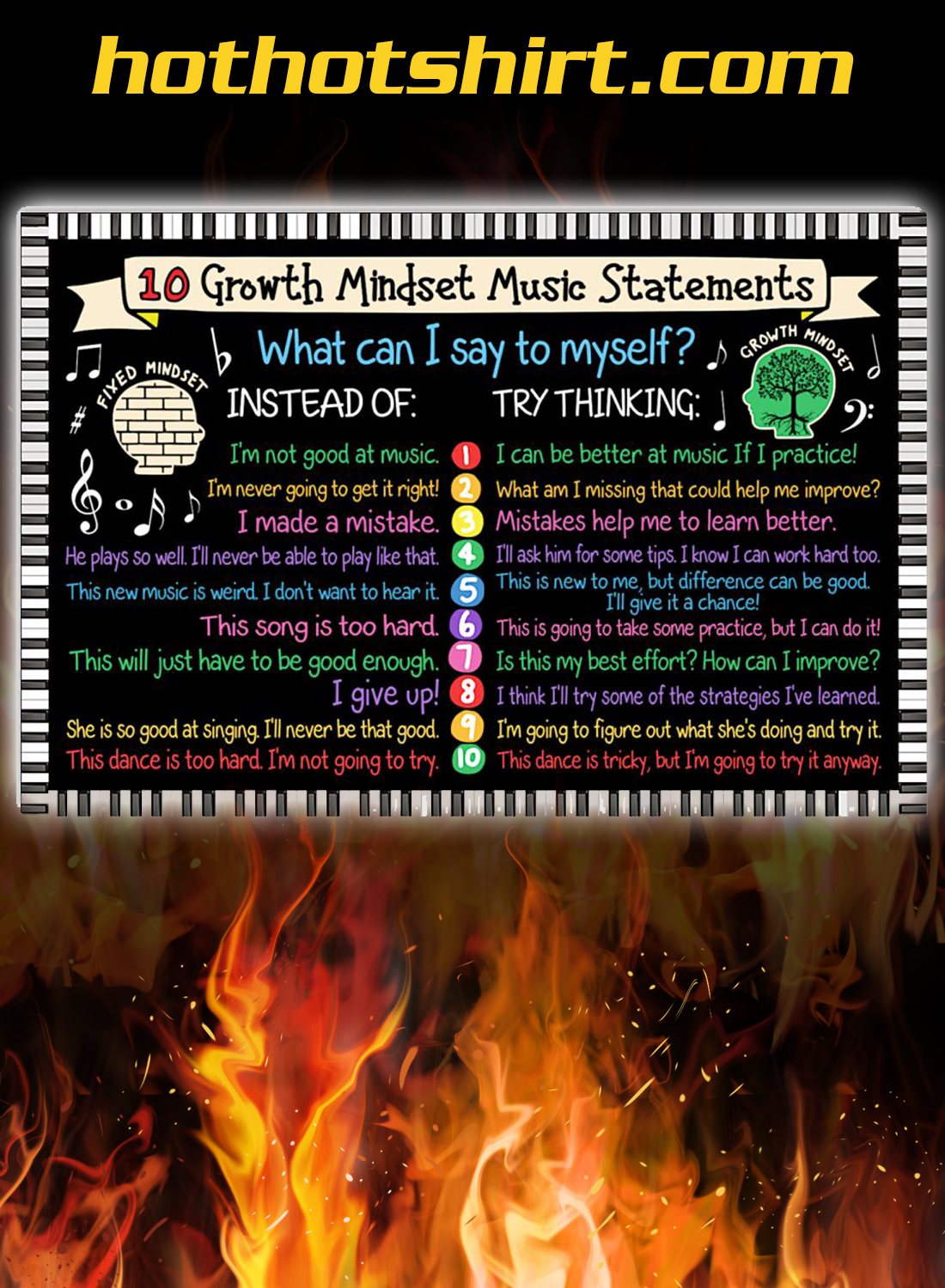 10 growth mindset music statements poster 2
