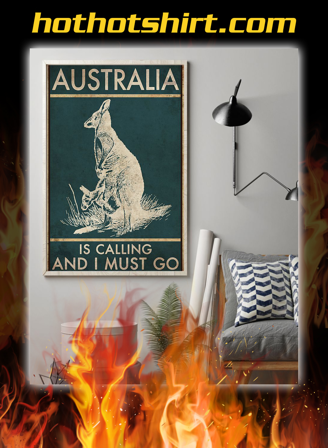 Australia is calling and i must go poster 1