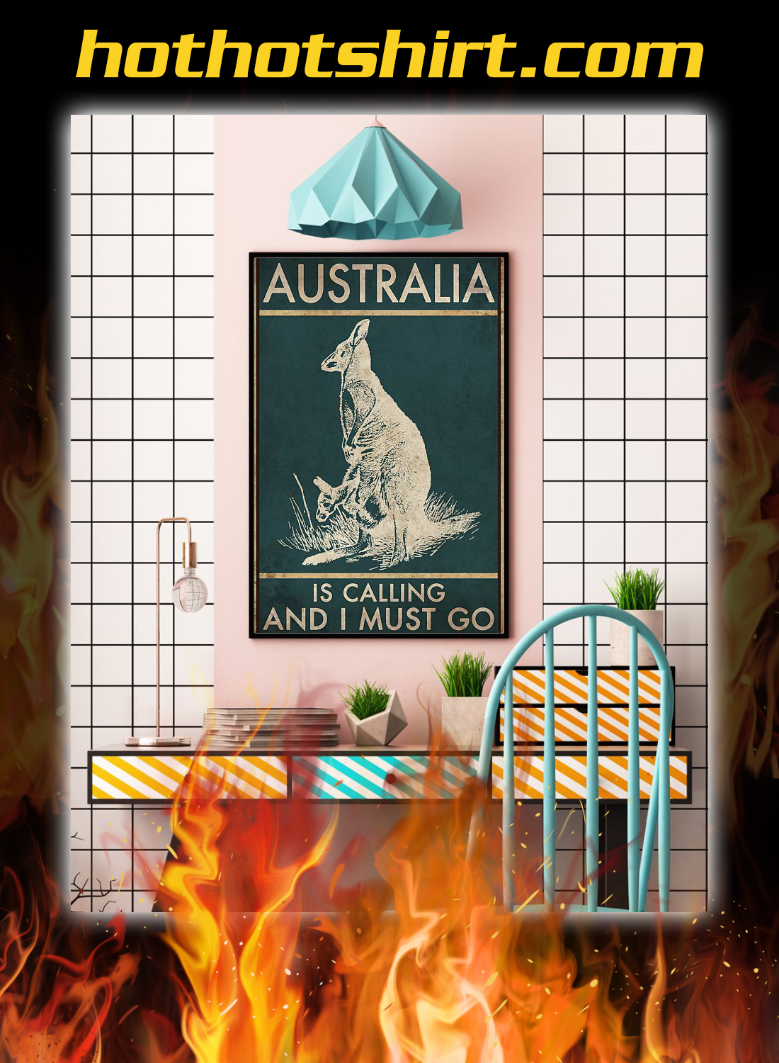 Australia is calling and i must go poster 2