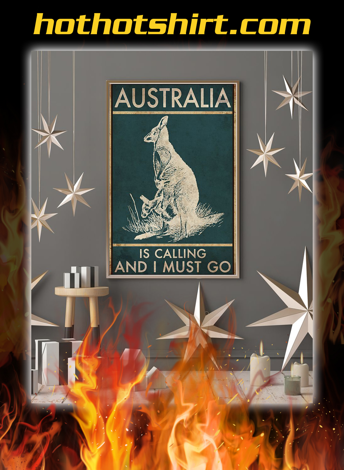 Australia is calling and i must go poster 3