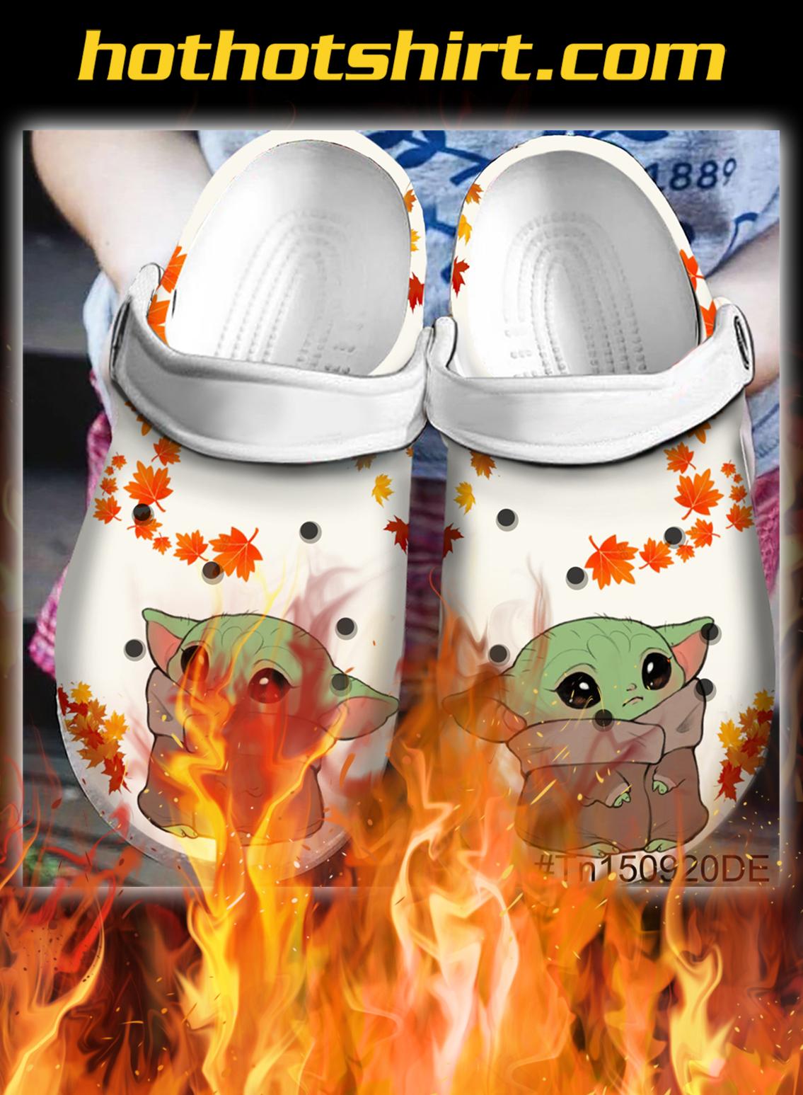 Baby yoda crocband crocs shoes- pic 1