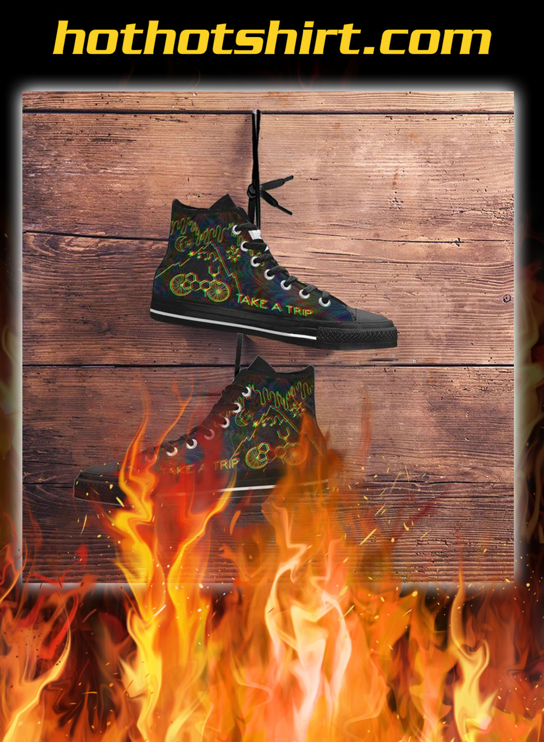 Bicycle day take a trip high top shoes- pic 2