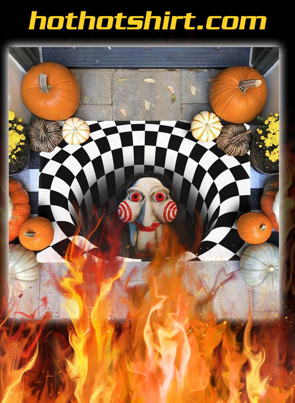 Billy jigsaw illusion halloween doormat- pic 1