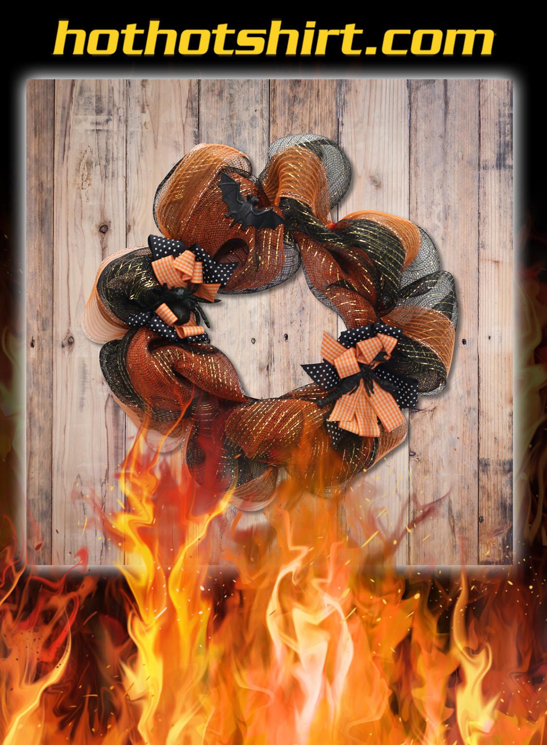 Black and Orange Witch Wreath