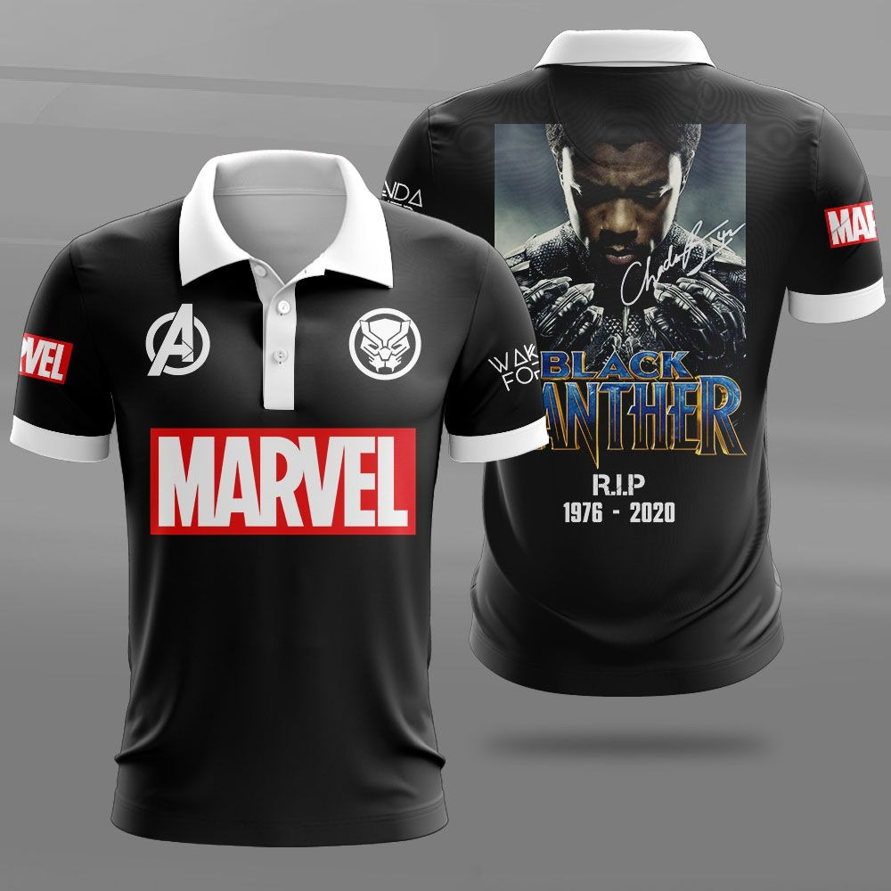 Black panther rip 1976 2020 marvel all over print 3d hoodie, shirt 1