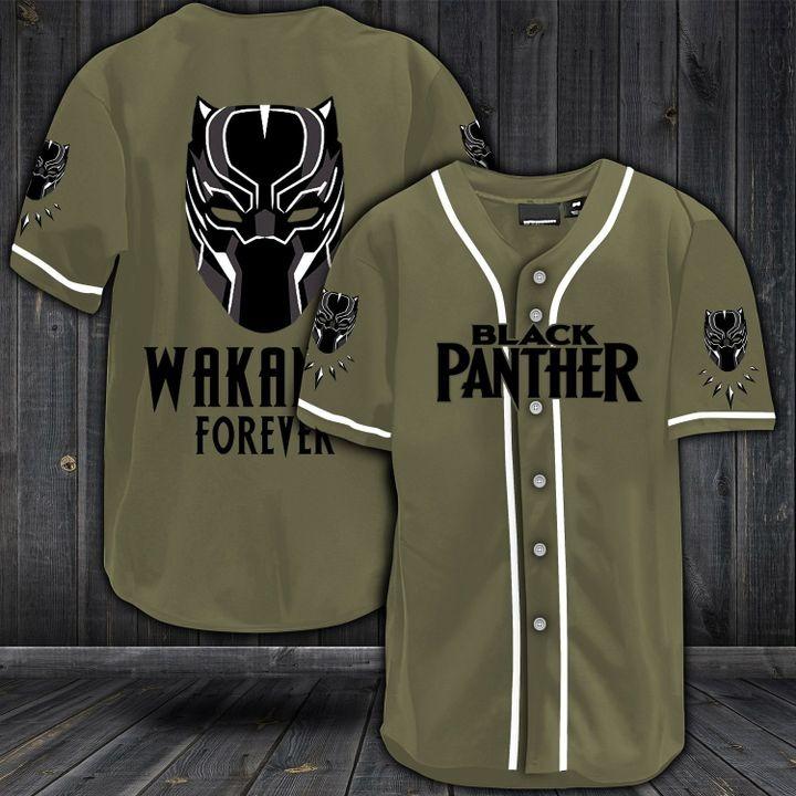 Black panther wakanda forever baseball shirt 2