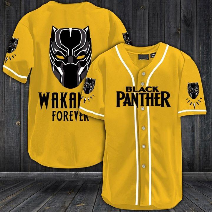 Black panther wakanda forever baseball shirt 3