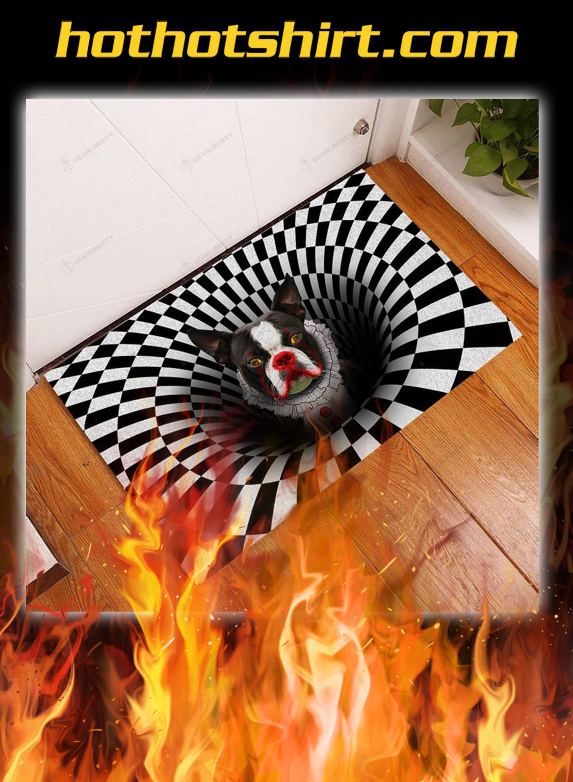 Boston terrier illusion halloween doormat- pic 1
