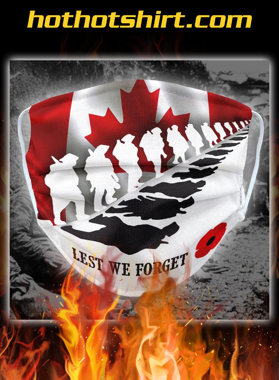 Canadian Veterans lest we forget face mask 1