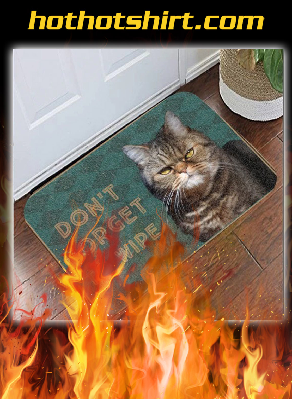Cat don't forget to wipe doormat - pic 1