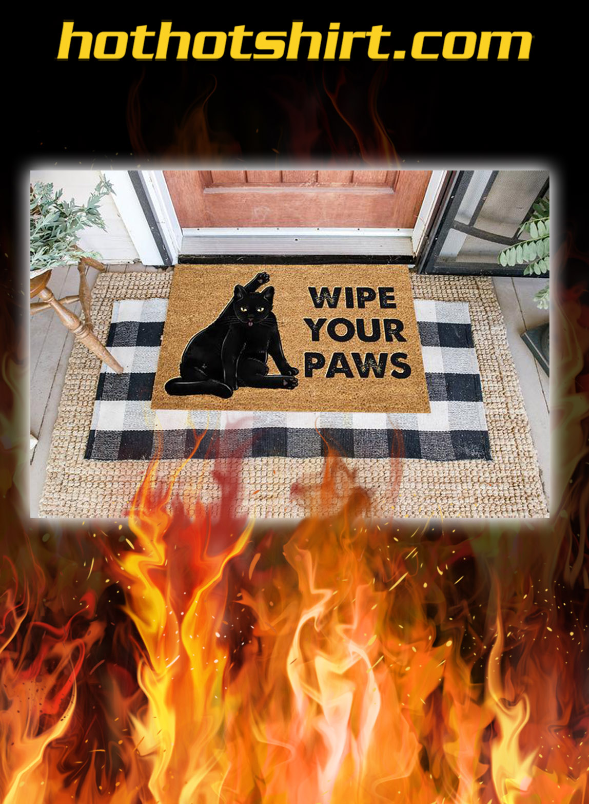 Cat wipe your paws doormat - pic 1