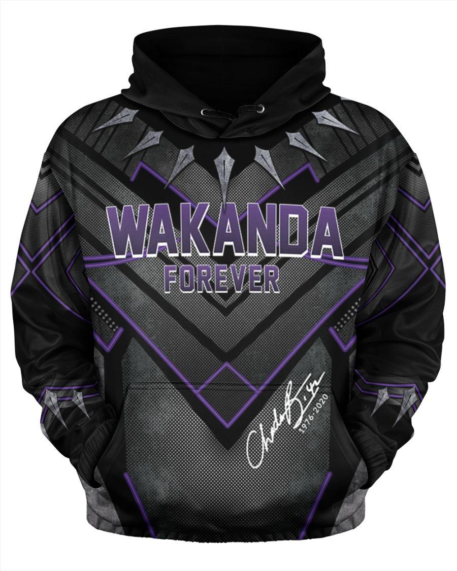Chadwick boseman wakanda forever all over print hoodie