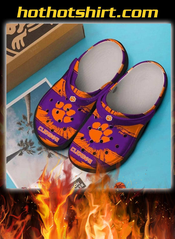 Clemson tigers crocband crocs shoes 1