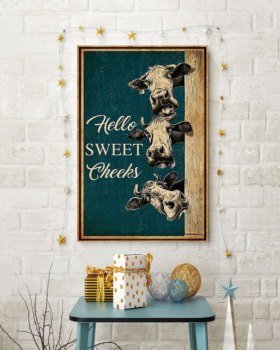 Cow hello sweet cheeks poster 3