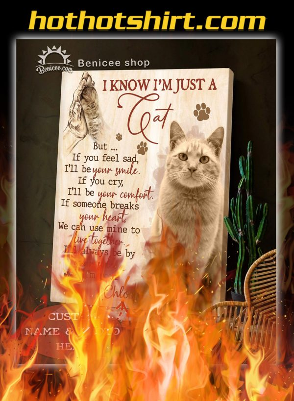 Custom photo and name i know i'm just a cat canvas prints