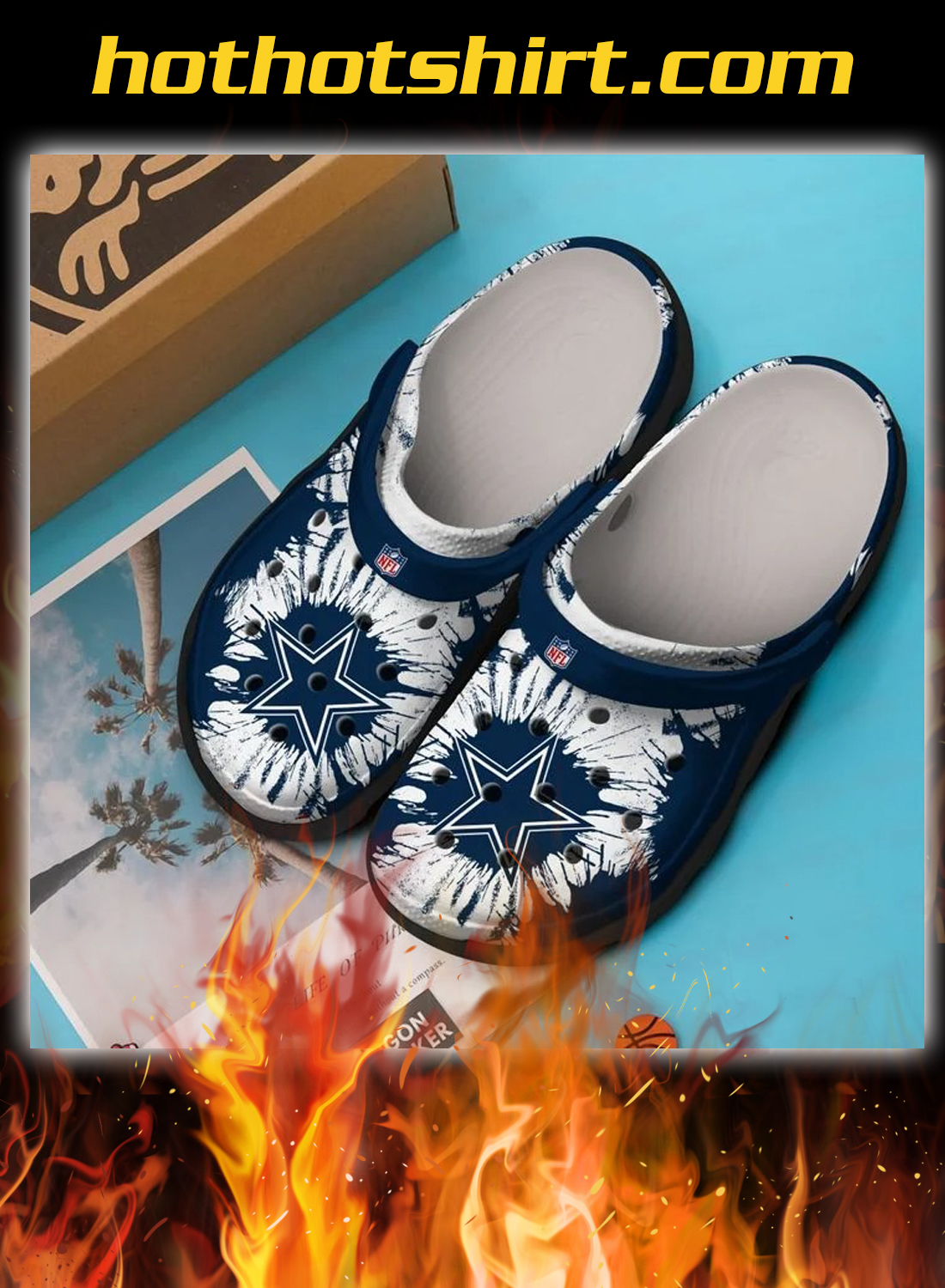 Dallas cowboys crocband crocs shoes - detail