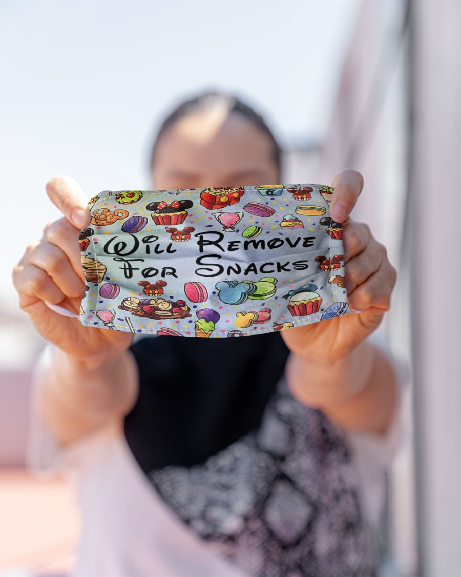 Disney will remove for snacks face mask 1