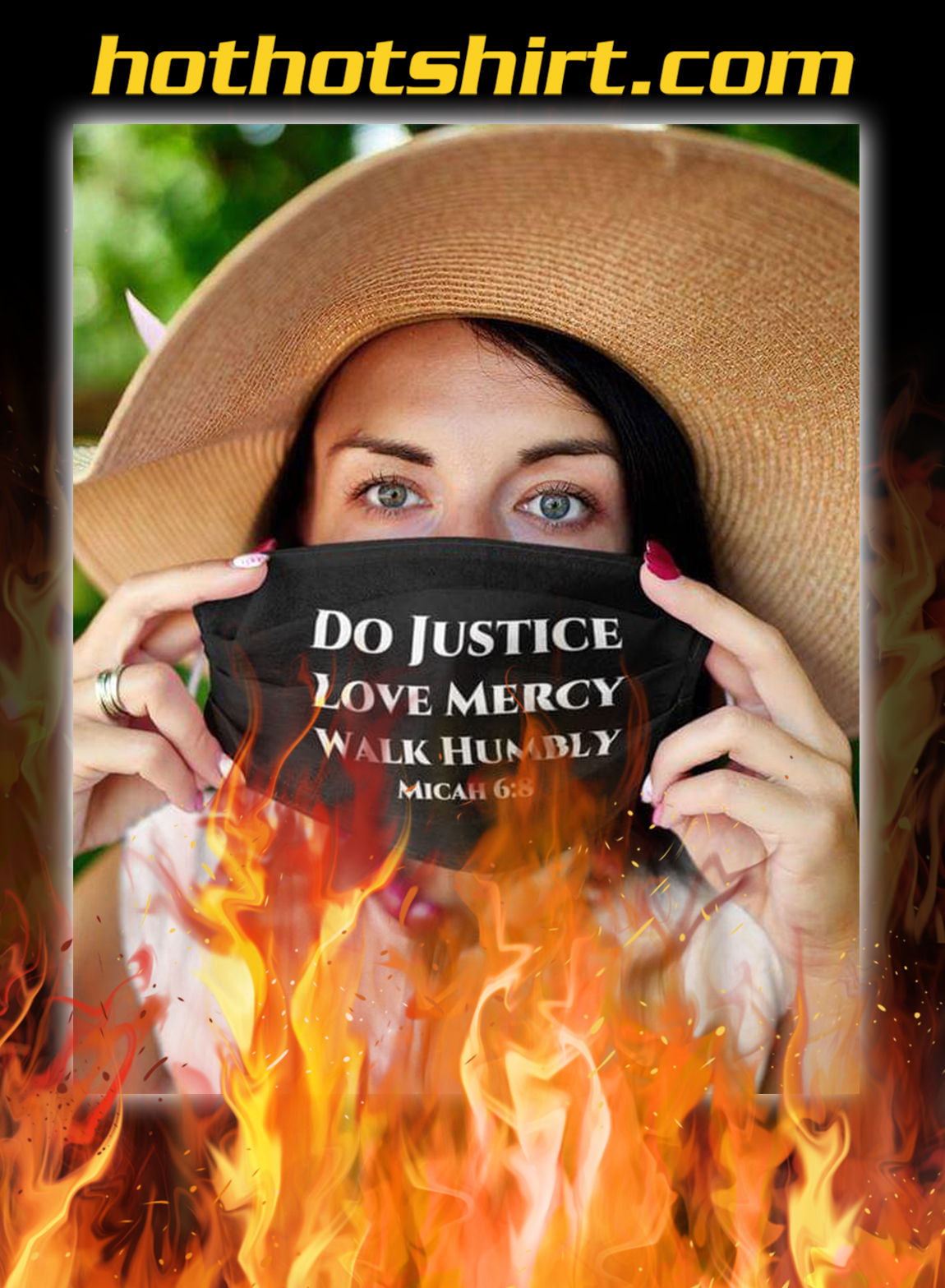 Do justice love mercy walk humbly micah 6-8 face mask - pic 1