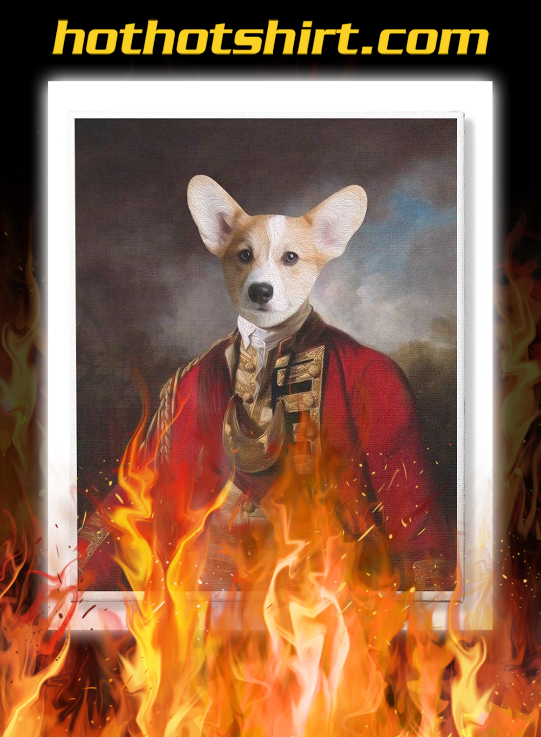 Dog king custom personalized vertical canvas prints- pic 1