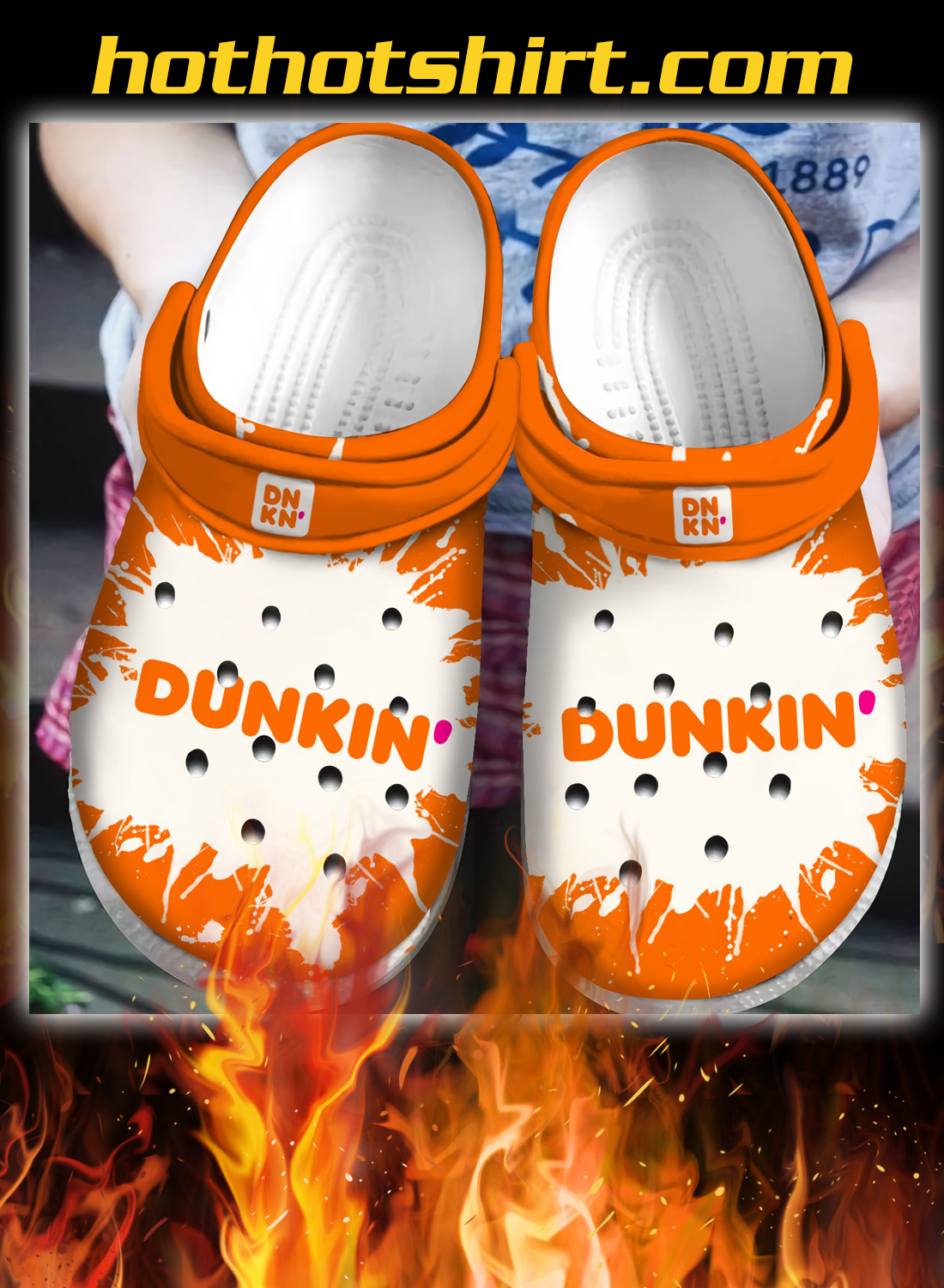 Dunkin' donuts crocband crocs shoes 1