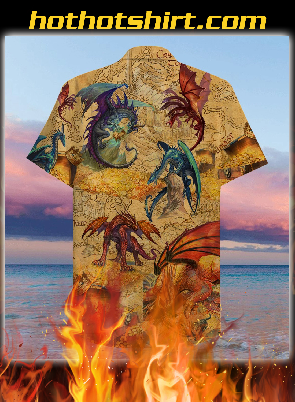 Every treasure is guarded by dragons unisex hawaiian shirt 2