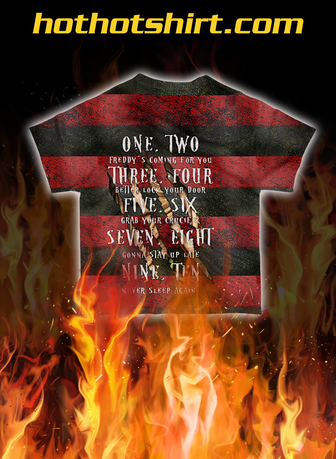 Freddy Krueger sweet dreams one two 3d all over printed t-shirt- pic 1
