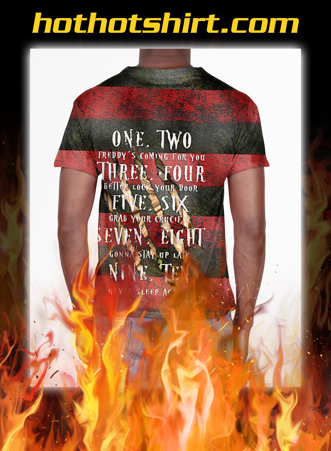 Freddy Krueger sweet dreams one two 3d all over printed t-shirt-pic 2