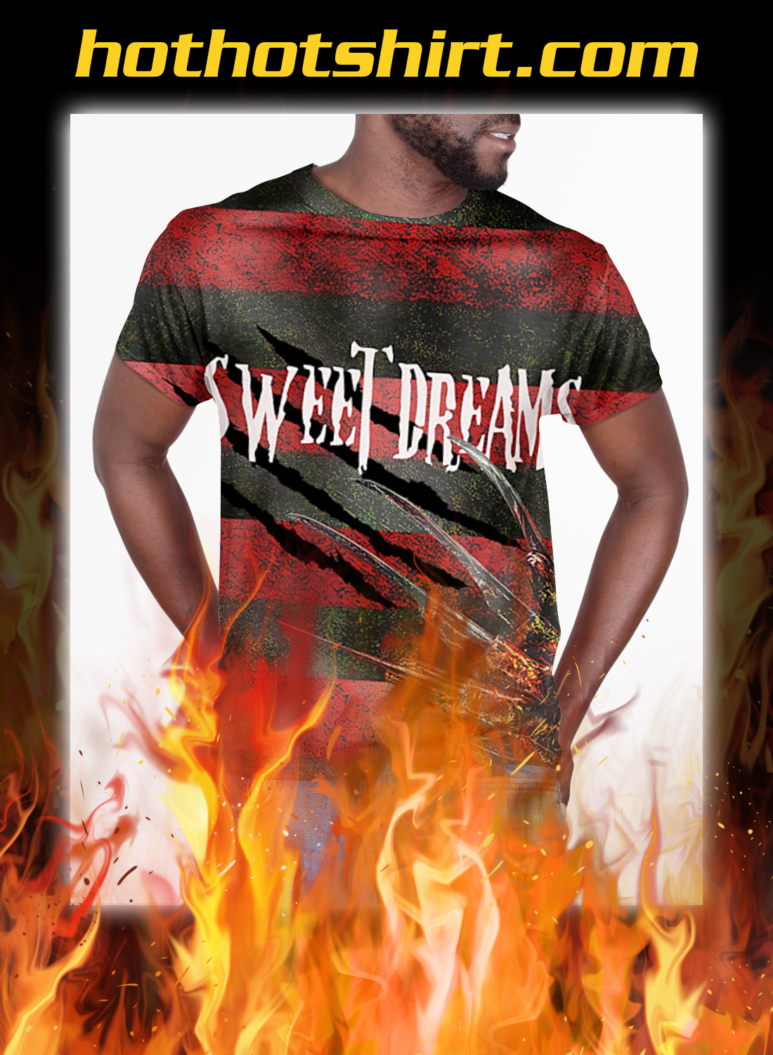 Freddy Krueger sweet dreams one two 3d all over printed t-shirt- pic 3