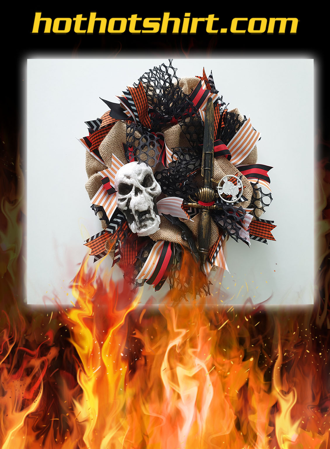 Gasparilla Skull Wreath