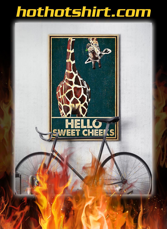 Giraffe hello sweet cheeks poster 2