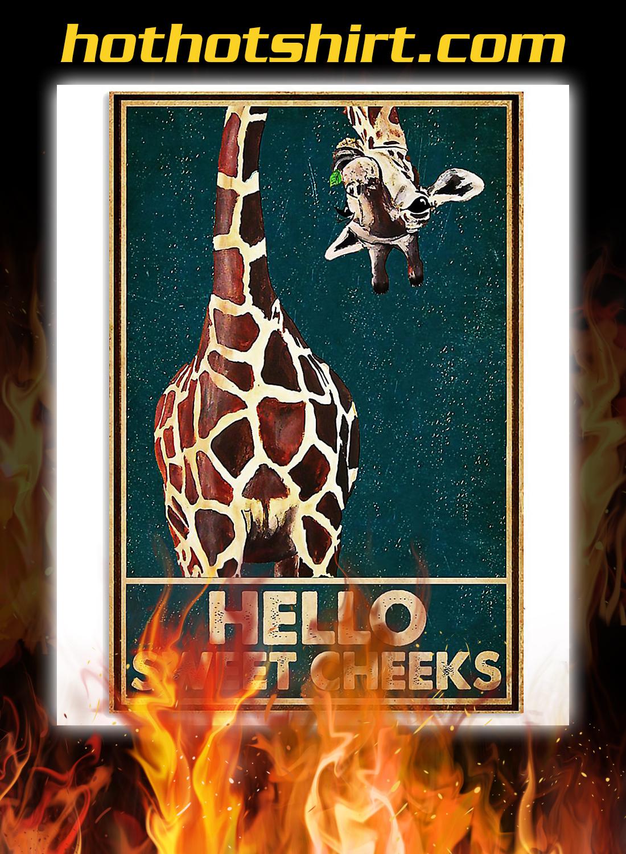 Giraffe hello sweet cheeks poster 3