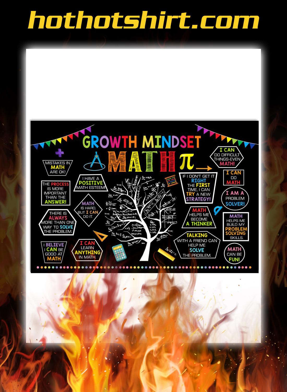 Growth mindset math poster 1