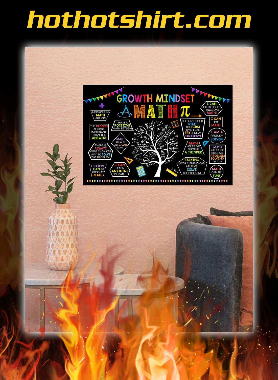 Growth mindset math poster 2