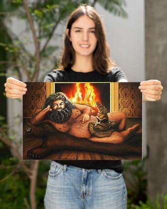 Hagrid with the sorting hat poster 3