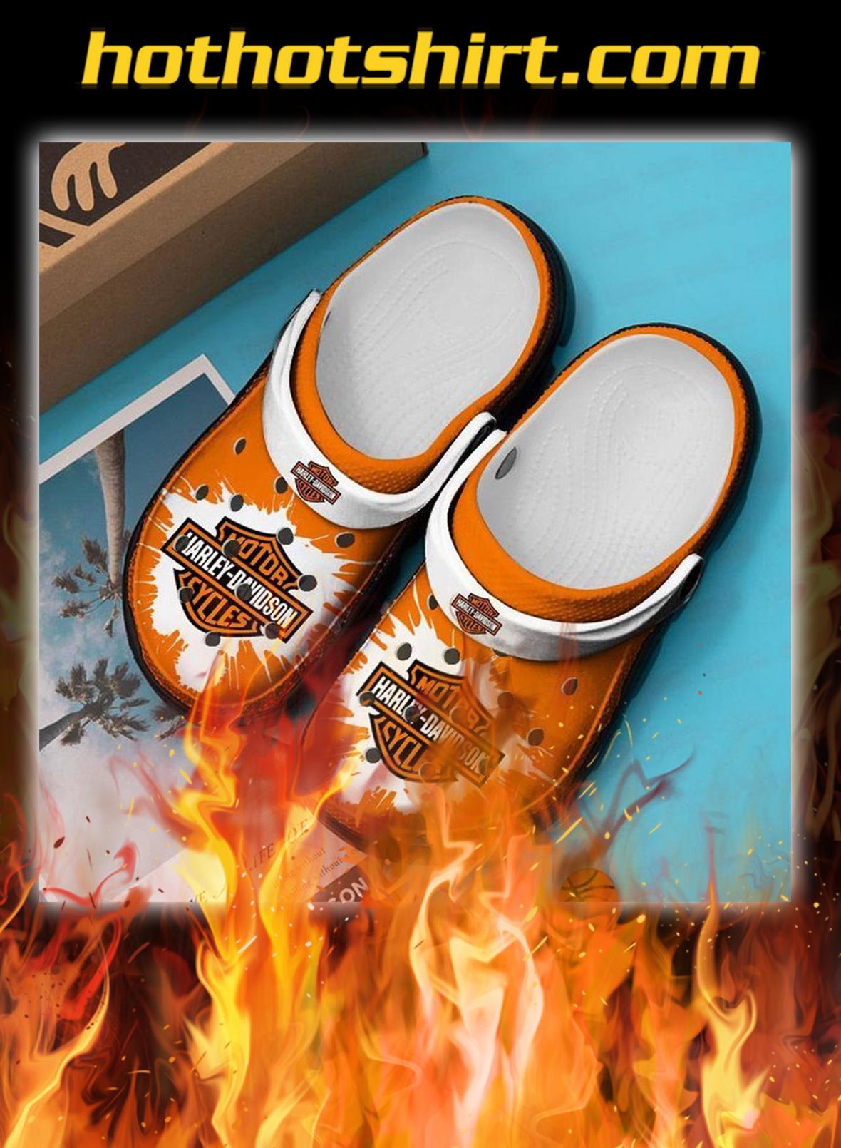 Harley davidson motorcycle crocband crocs shoes- pic 1