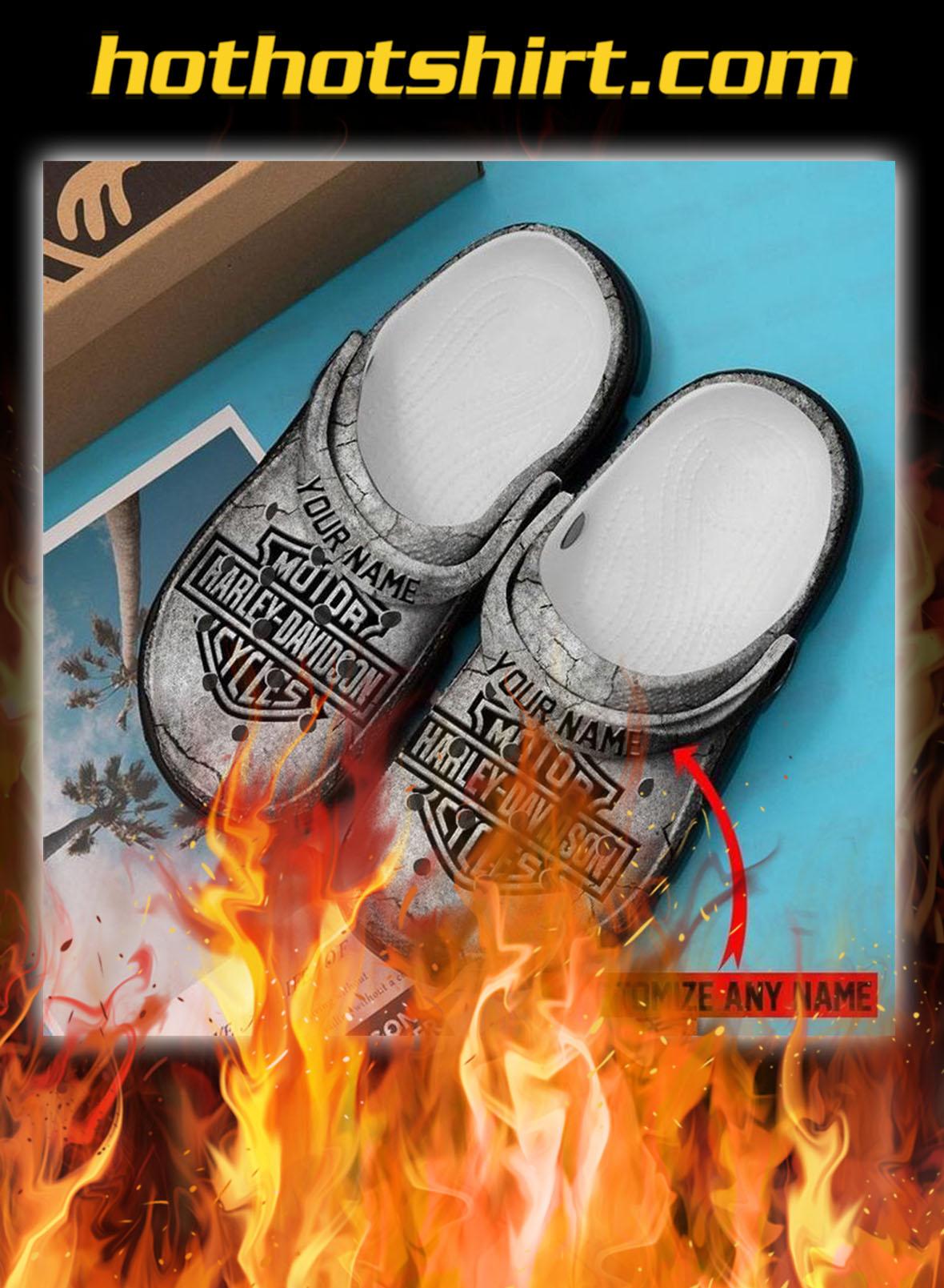 Harley davidson personalized custom name crocs crocband clog- pic 1