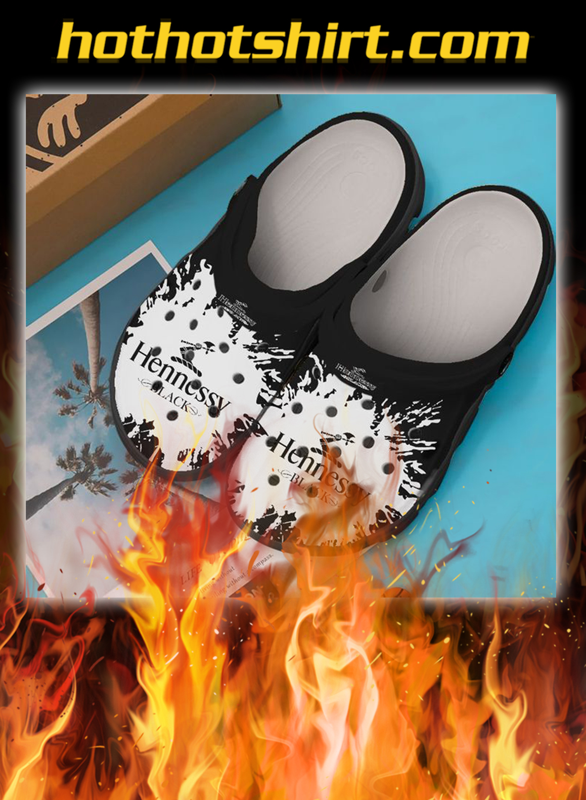 Hennessy black crocband crocs shoes- pic 1