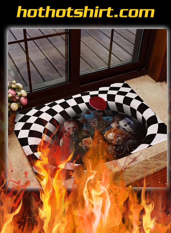 Horror killer illusion halloween doormat- pic 1