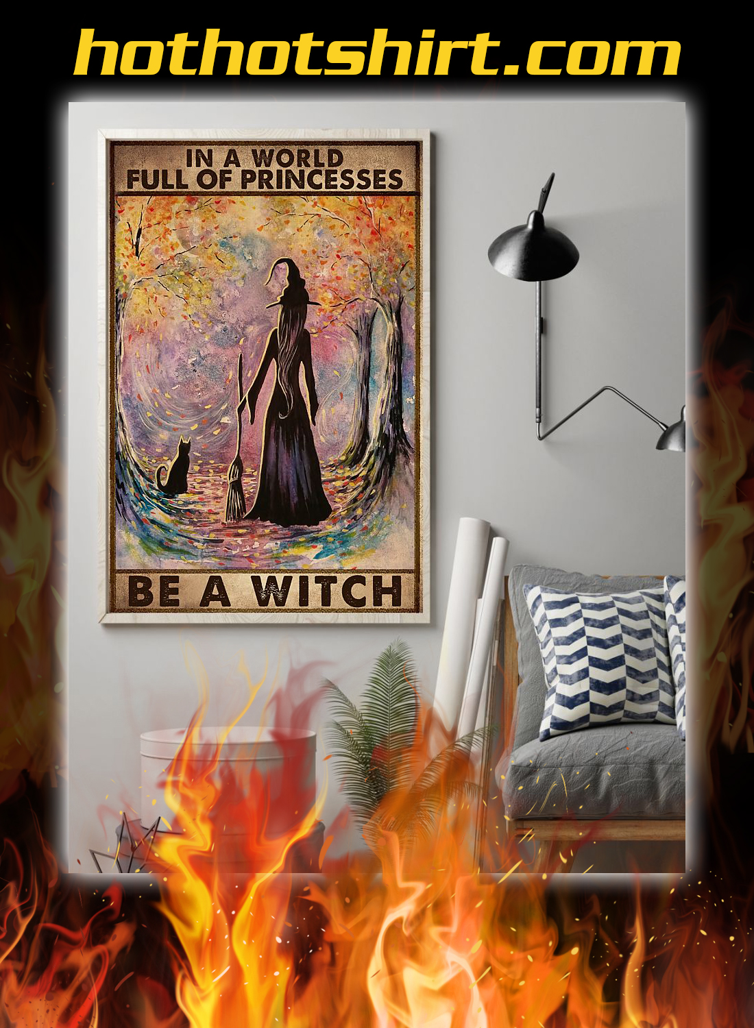 In a world full of princesses be a witch poster 2