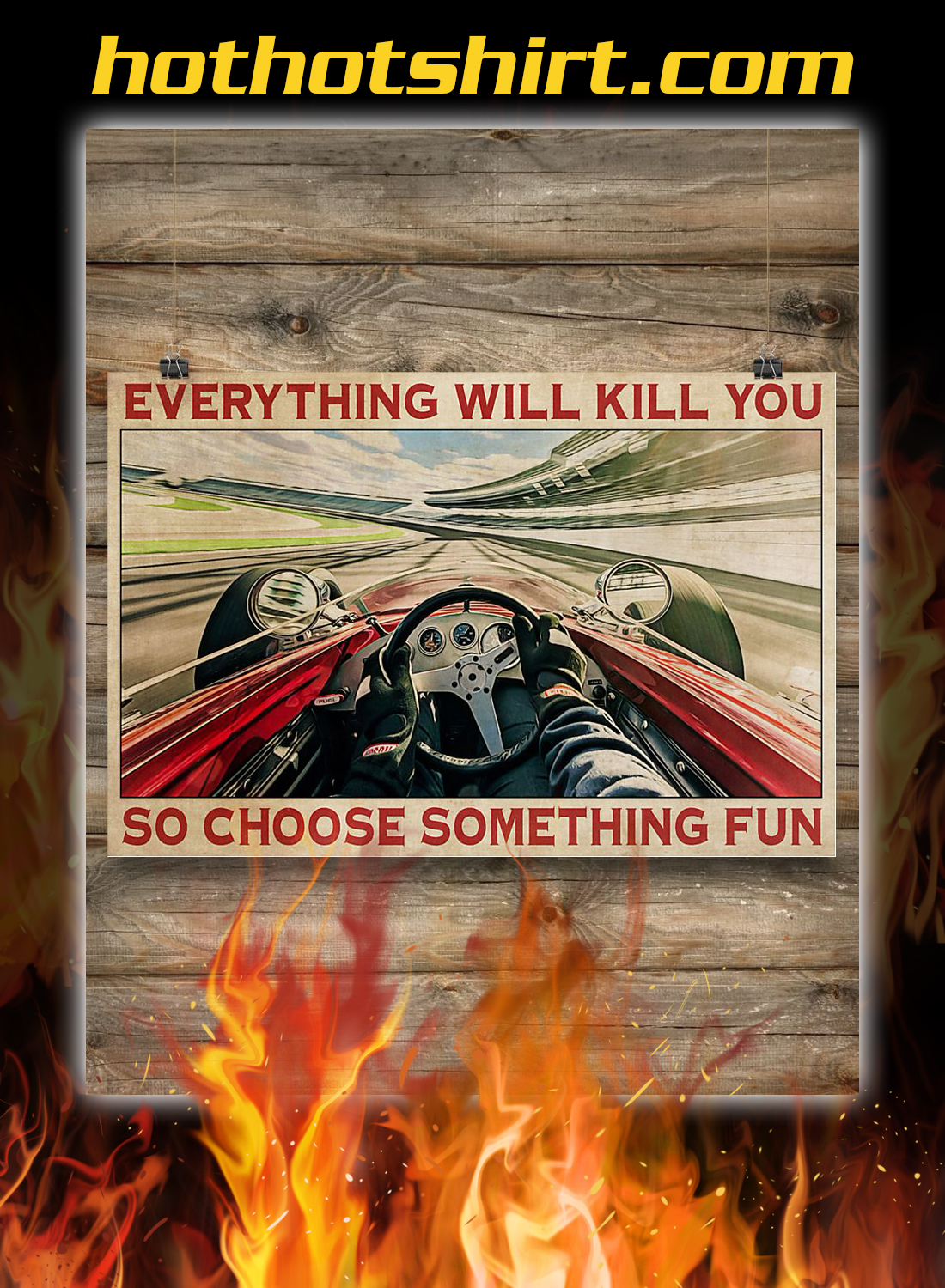 Indianapolis car choose something fun poster 3