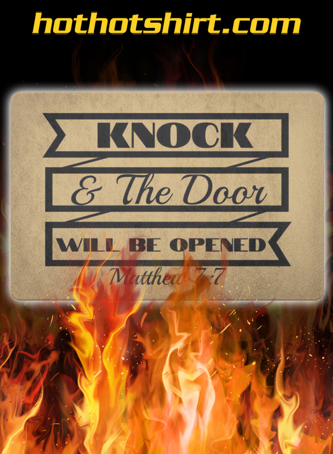 Knock and the door will be opened doormat- pic 1